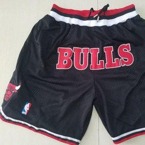 New NBA Just Don Chicago Bulls Basketball Shorts 2
